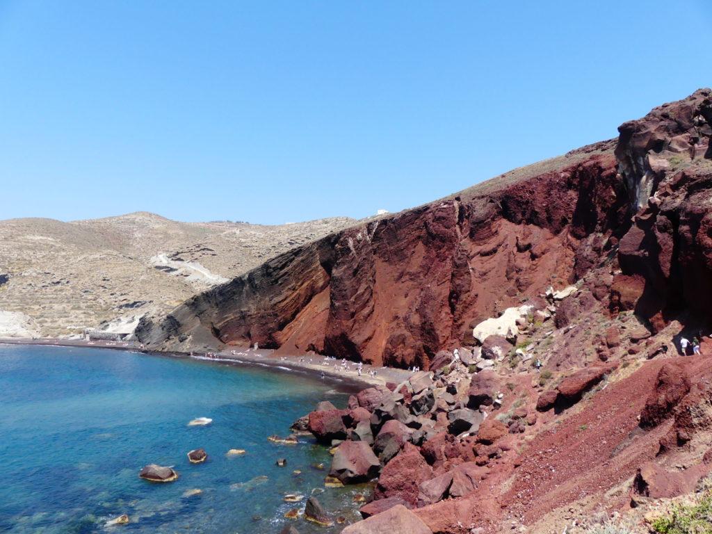 Red beach, plage de Santorin